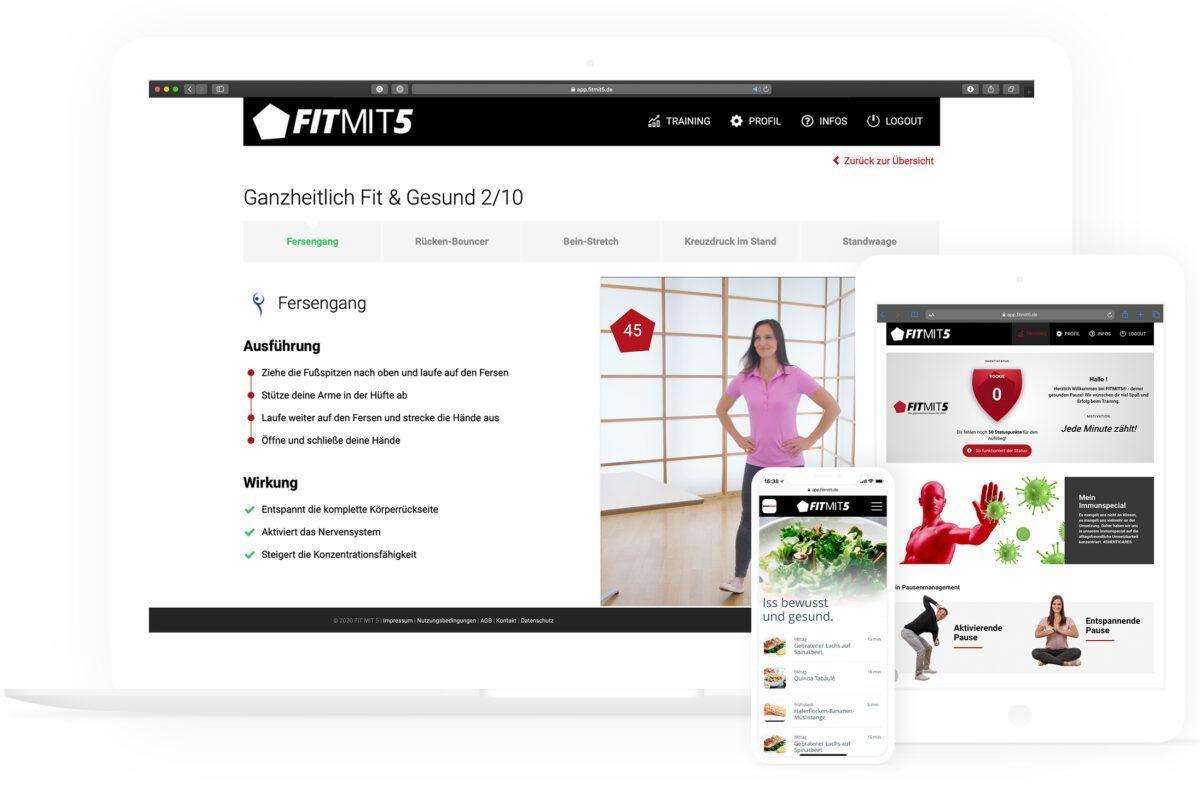 FITMIT5 responsive Trainings-App
